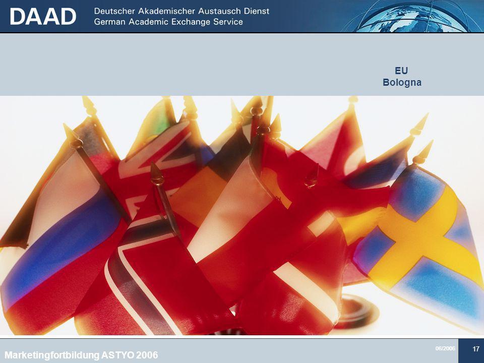 06/2006 17 EU Bologna Marketingfortbildung ASTYO 2006