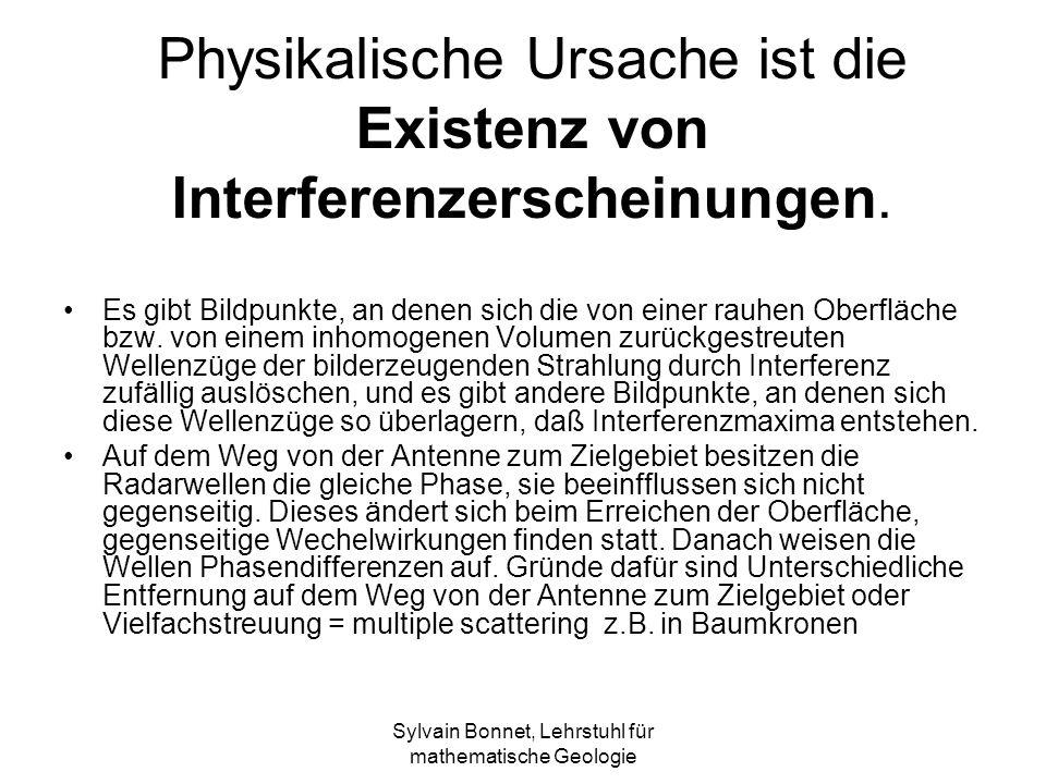 Sylvain Bonnet, Lehrstuhl für mathematische Geologie Physikalische Ursache ist die Existenz von Interferenzerscheinungen.