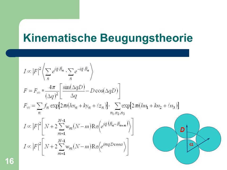 16 Kinematische Beugungstheorie D