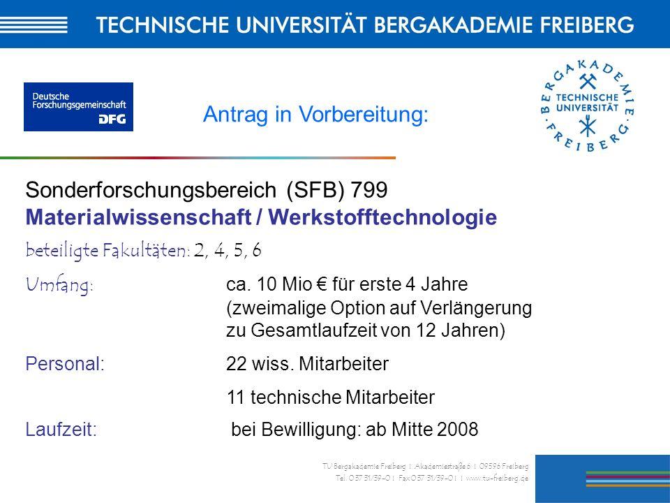 25 TU Bergakademie Freiberg I Akademiestraße 6 I 09596 Freiberg Tel. 0 37 31/39-0 I Fax 0 37 31/39-0 I I www.tu-freiberg.de Antrag in Vorbereitung: So