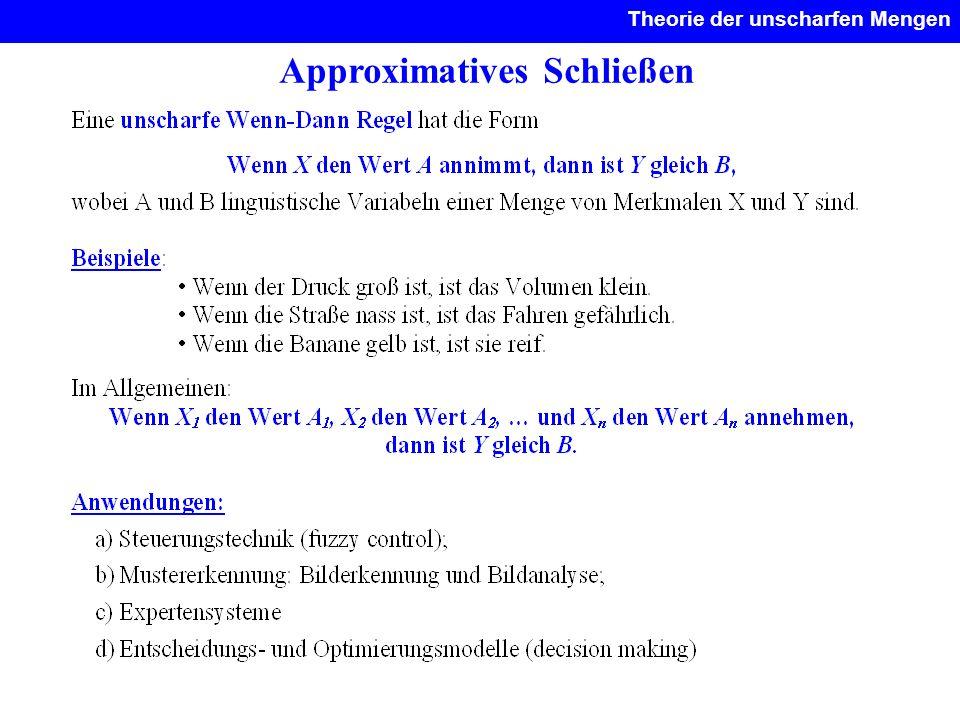 Approximatives Schließen Theorie der unscharfen Mengen.