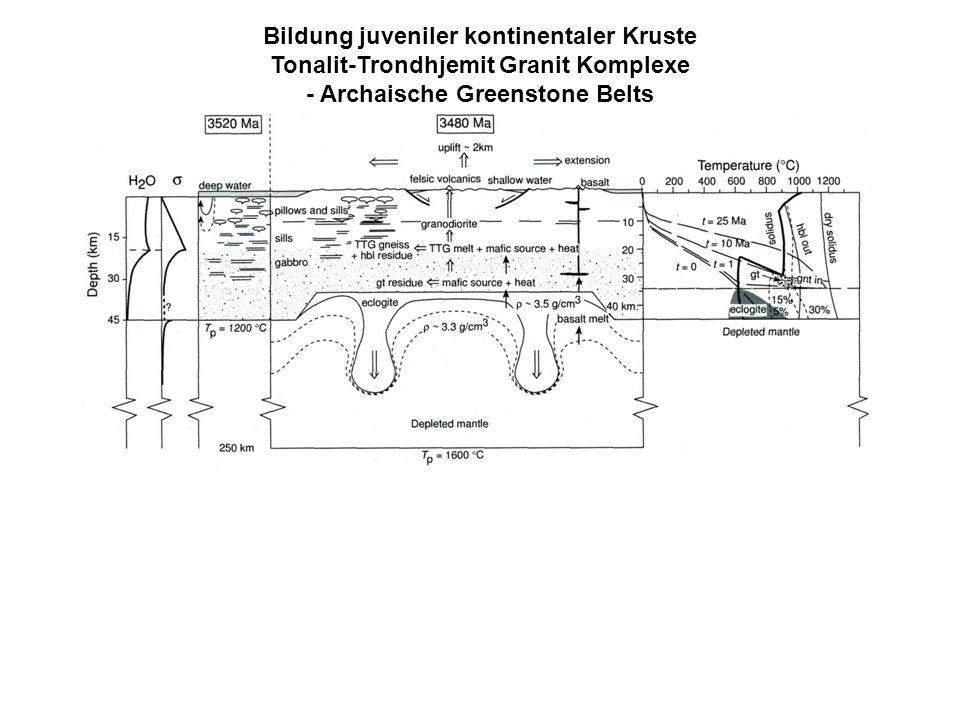 Bildung juveniler kontinentaler Kruste Tonalit-Trondhjemit Granit Komplexe - Archaische Greenstone Belts