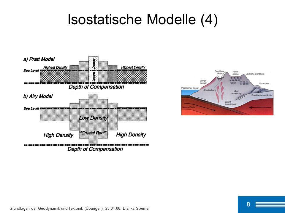 9 Grundlagen der Geodynamik und Tektonik (Übungen), 28.04.08, Blanka Sperner p = const.