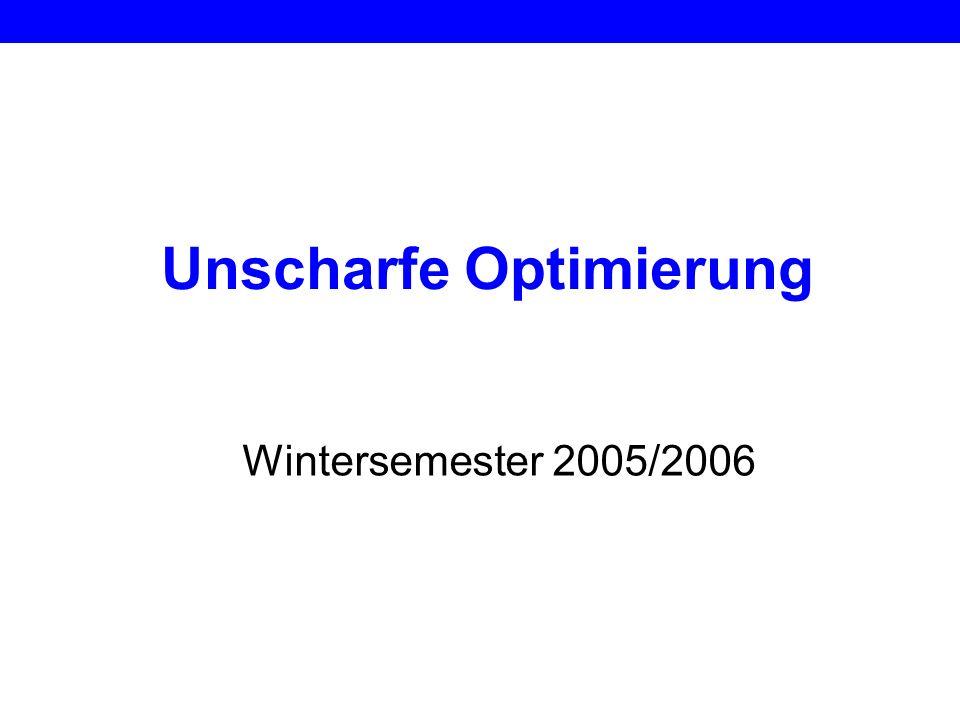 Unscharfe Optimierung Wintersemester 2005/2006
