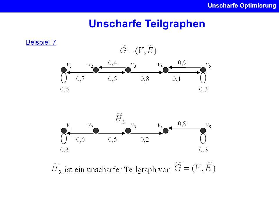 Unscharfe Optimierung Unscharfe Teilgraphen Beispiel 7