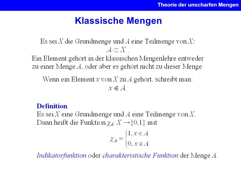Klassische Mengen Theorie der unscharfen Mengen