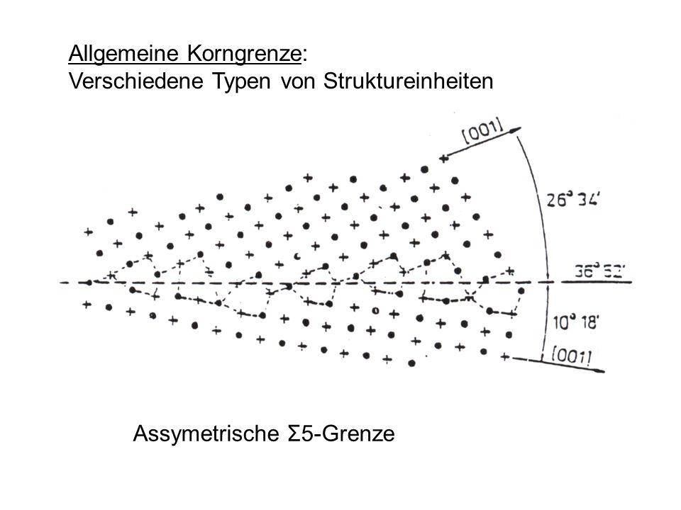 Allgemeine Korngrenze: Verschiedene Typen von Struktureinheiten Assymetrische Σ5-Grenze