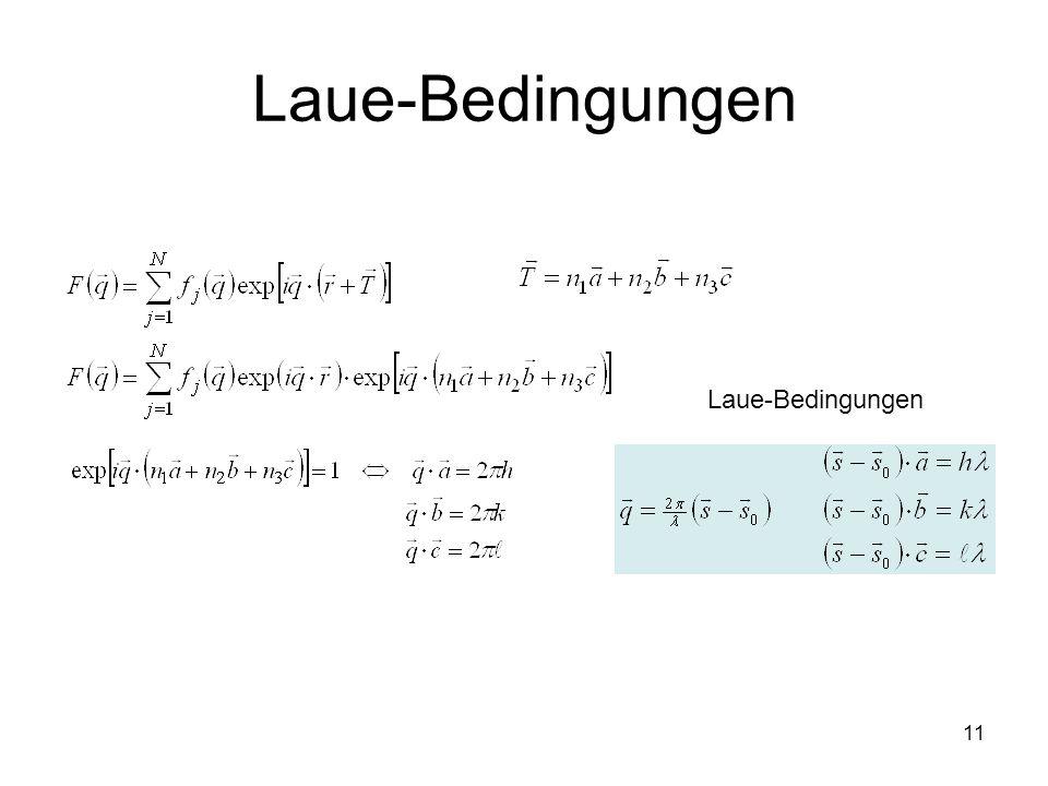 11 Laue-Bedingungen
