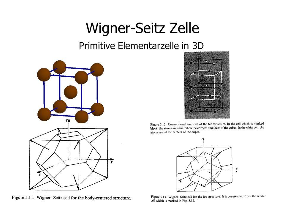 14 Wigner-Seitz Zelle Primitive Elementarzelle in 3D