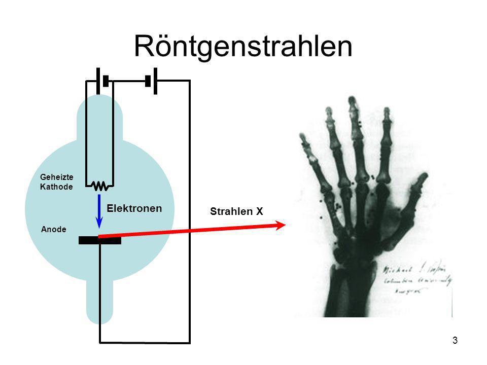 3 Röntgenstrahlen Geheizte Kathode Anode Strahlen X Elektronen