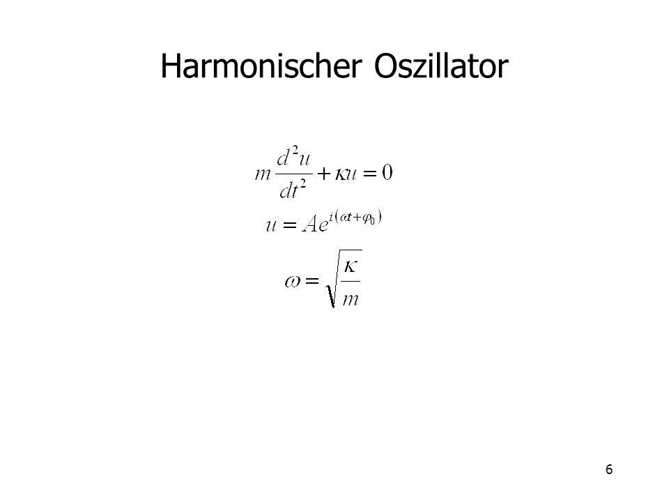 7 Harmonischer Oszillator mit Dämpfung