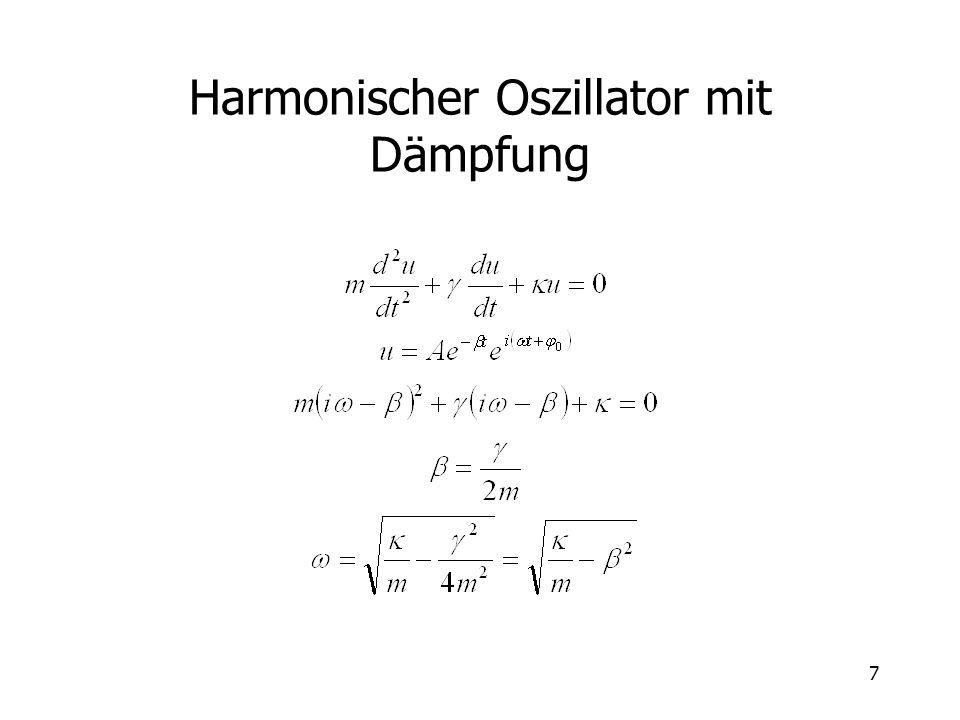 8 Harmonische Schwingungen A = B :