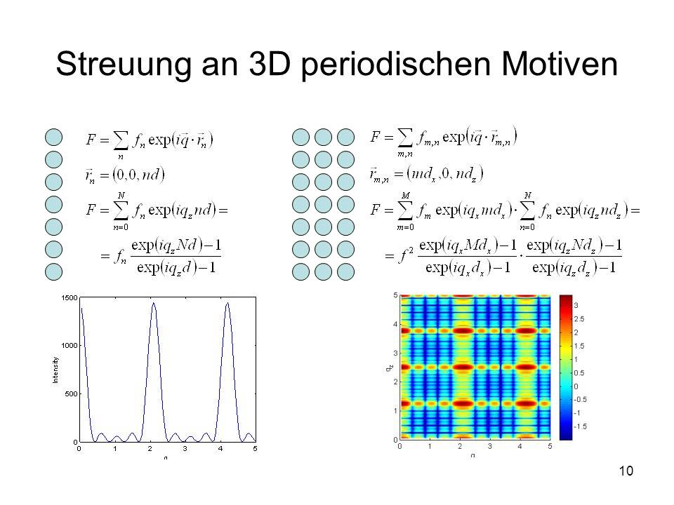 10 Streuung an 3D periodischen Motiven