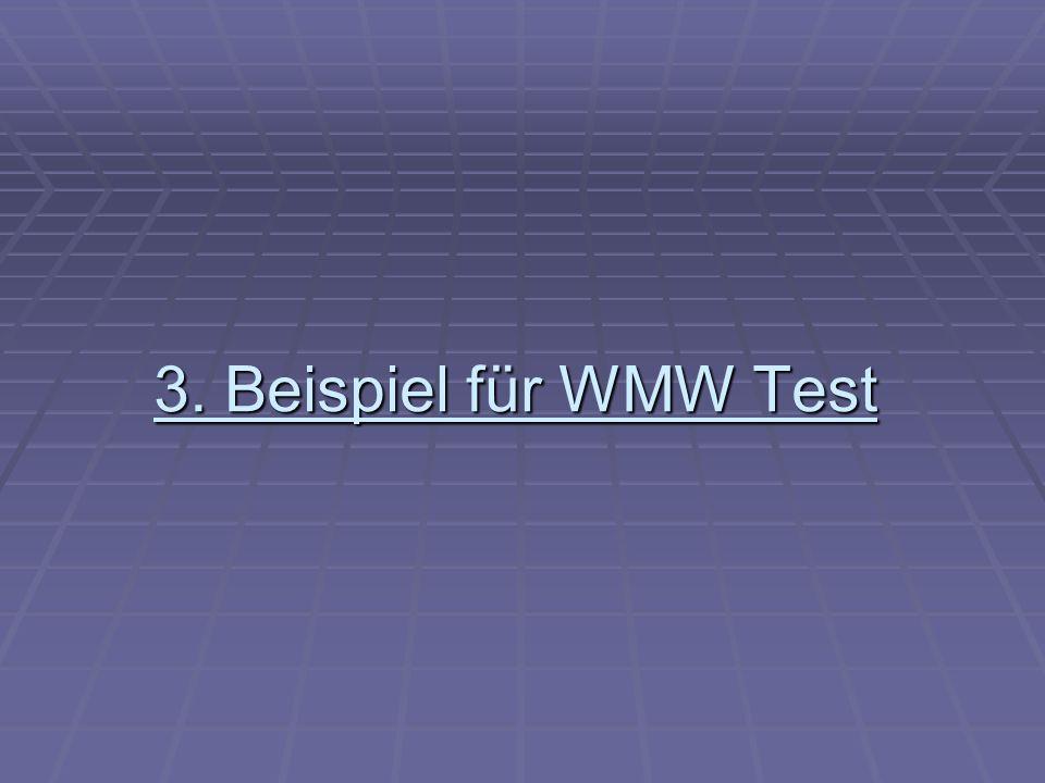 3. Beispiel für WMW Test
