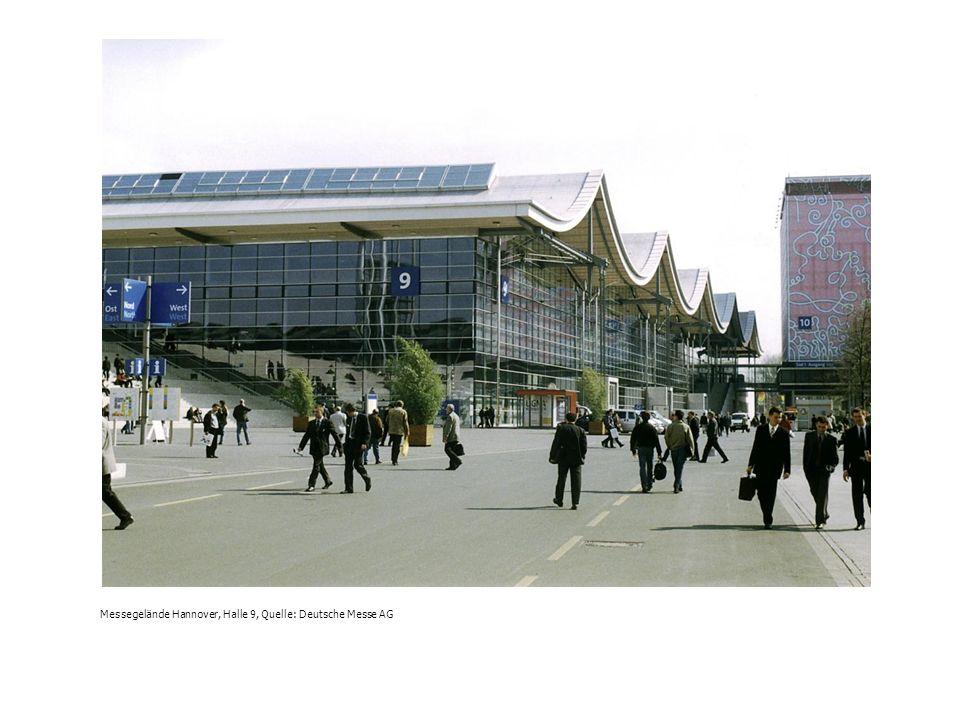 Messegelände Hannover, Halle 9, Quelle: Deutsche Messe AG