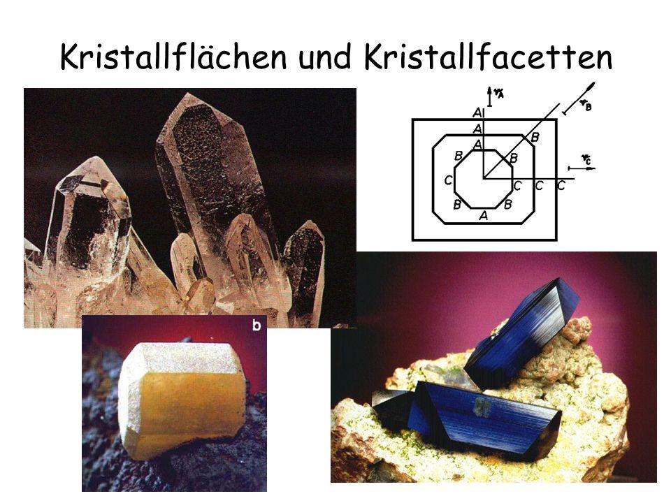 12 Kristallflächen und Kristallfacetten