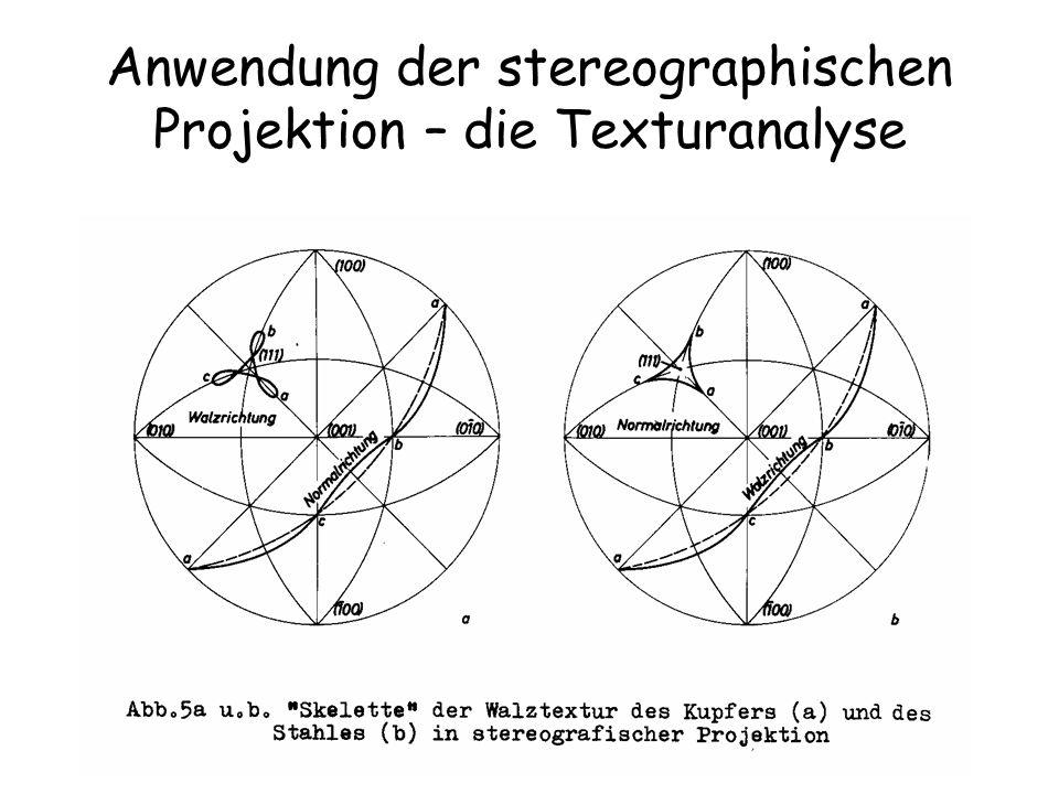 25 Anwendung der stereographischen Projektion – die Texturanalyse