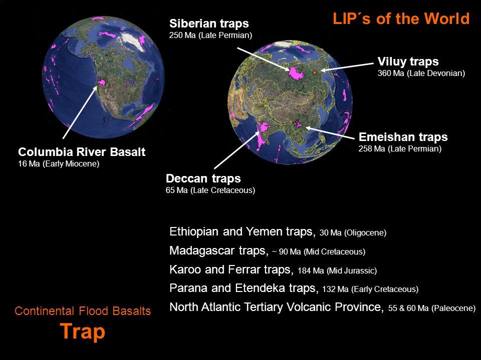 Large Igneous Provinces LIP Ontong–Java plateau 117, 98, 93 Ma (Mid-Late Cretaceous Ozeanische Plateaus