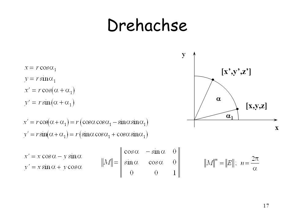 17 Drehachse x [x,y,z] y 1
