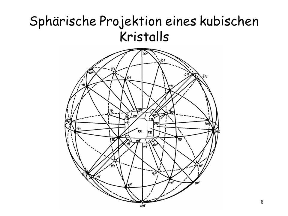 9 Winkel zwischen den Netzebenen In kubischen Systemen In orthogonalen Systemen In hexagonalen Systemen (hkl) 1 (hkl) 2