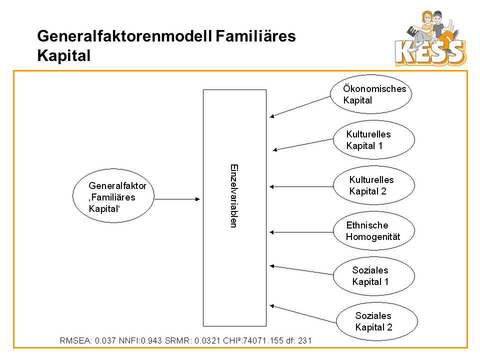 Generalfaktorenmodell Familiäres Kapital
