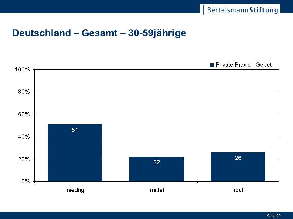 Seite 20 Deutschland – Gesamt – 30-59jährige