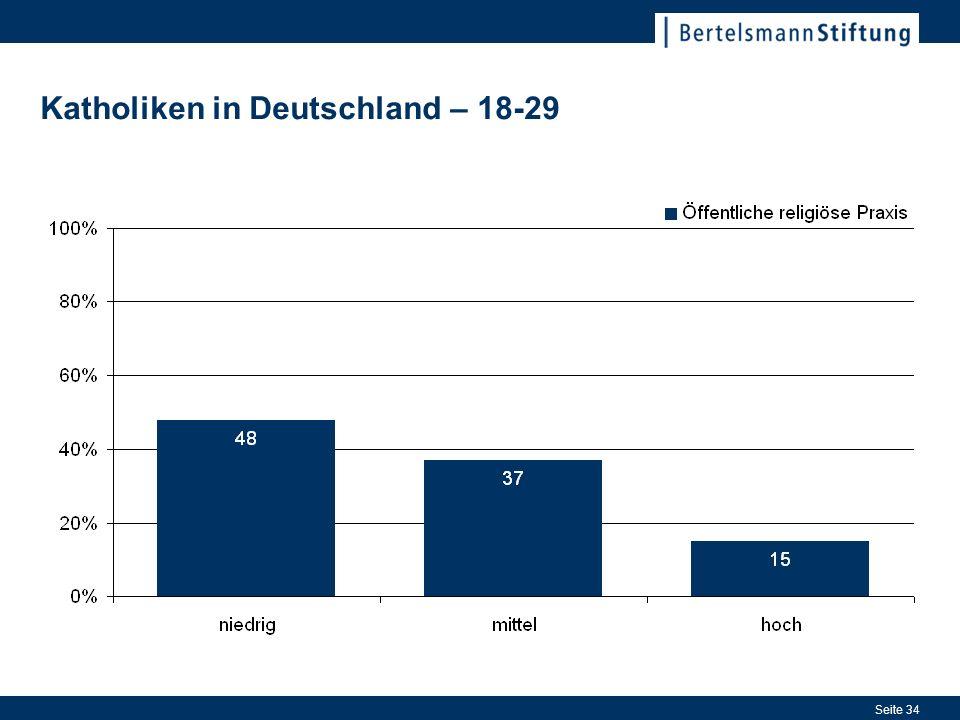 Seite 34 Katholiken in Deutschland – 18-29