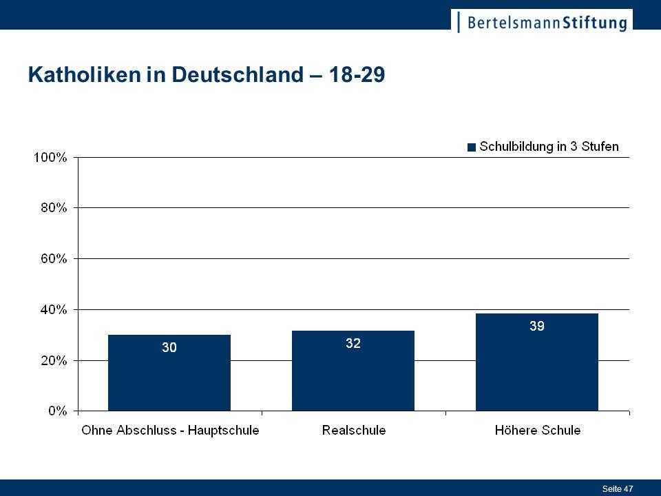 Seite 47 Katholiken in Deutschland – 18-29