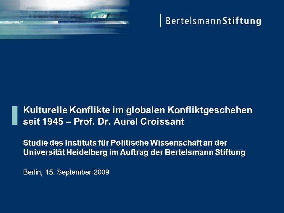 Kulturelle Konflikte im globalen Konfliktgeschehen seit 1945 – Prof. Dr. Aurel Croissant Studie des Instituts für Politische Wissenschaft an der Unive