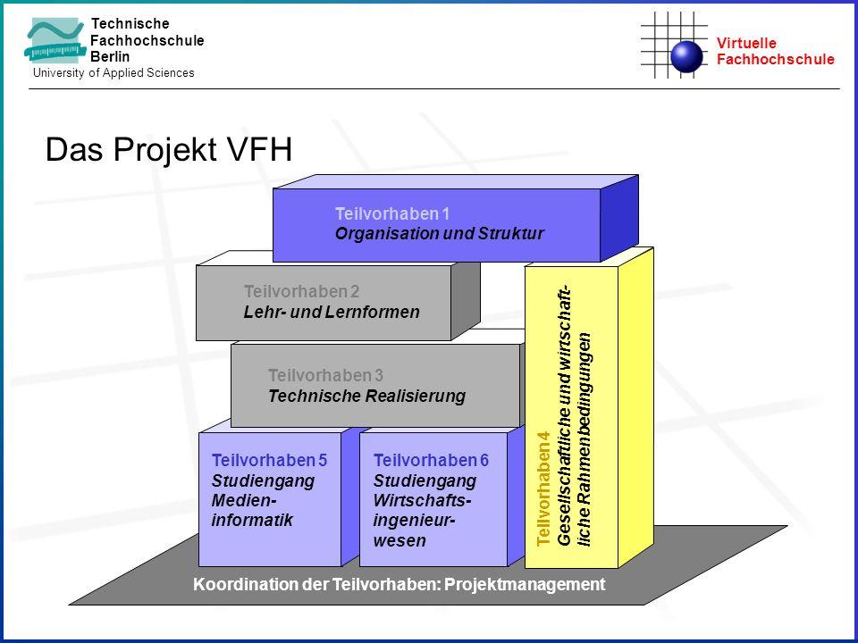 Virtuelle Fachhochschule Technische Fachhochschule Berlin University of Applied Sciences Teilvorhaben 6 Studiengang Wirtschafts- ingenieur- wesen Teil