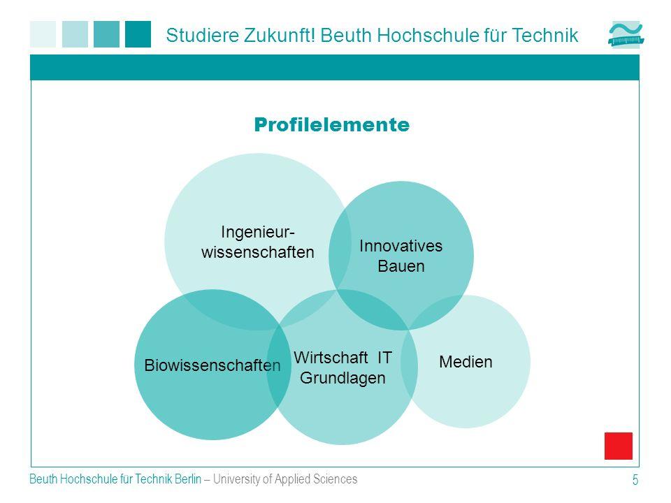Studiere Zukunft! Beuth Hochschule für Technik Beuth Hochschule für Technik Berlin – University of Applied Sciences 5 Profilelemente Ingenieur- wissen