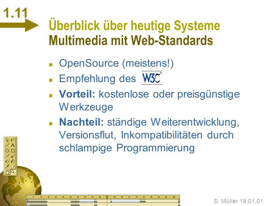 S. Müller 19.01.01 1.10 Überblick über heutige Systeme Marktübersicht
