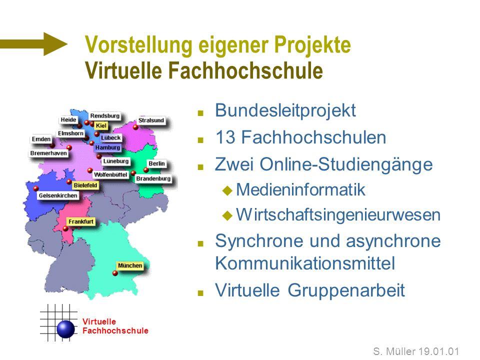 S. Müller 19.01.01 Vorstellung eigener Projekte Münchner Philharmoniker - CD-ROM n Saisonprogramm 1998/99 n Ausführliche Informationen zu Dirigenten S