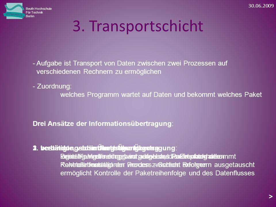 3. Transportschicht Beuth Hochschule Für Technik Berlin - Zuordnung: welches Programm wartet auf Daten und bekommt welches Paket Drei Ansätze der Info