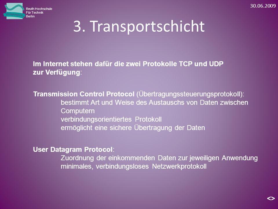 3. Transportschicht Beuth Hochschule Für Technik Berlin Im Internet stehen dafür die zwei Protokolle TCP und UDP zur Verfügung: <> User Datagram Proto