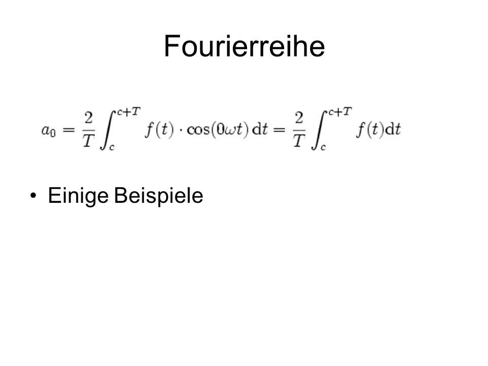 Fourierreihe Einige Beispiele