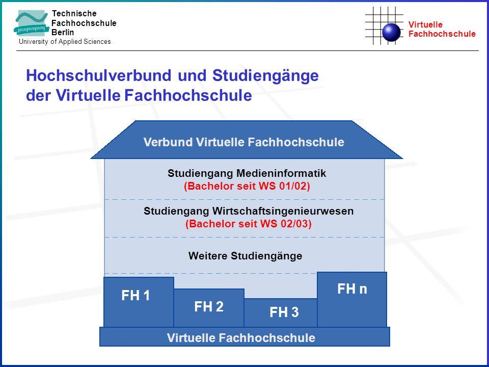 Virtuelle Fachhochschule Technische Fachhochschule Berlin University of Applied Sciences Hochschulverbund und Studiengänge der Virtuelle Fachhochschul