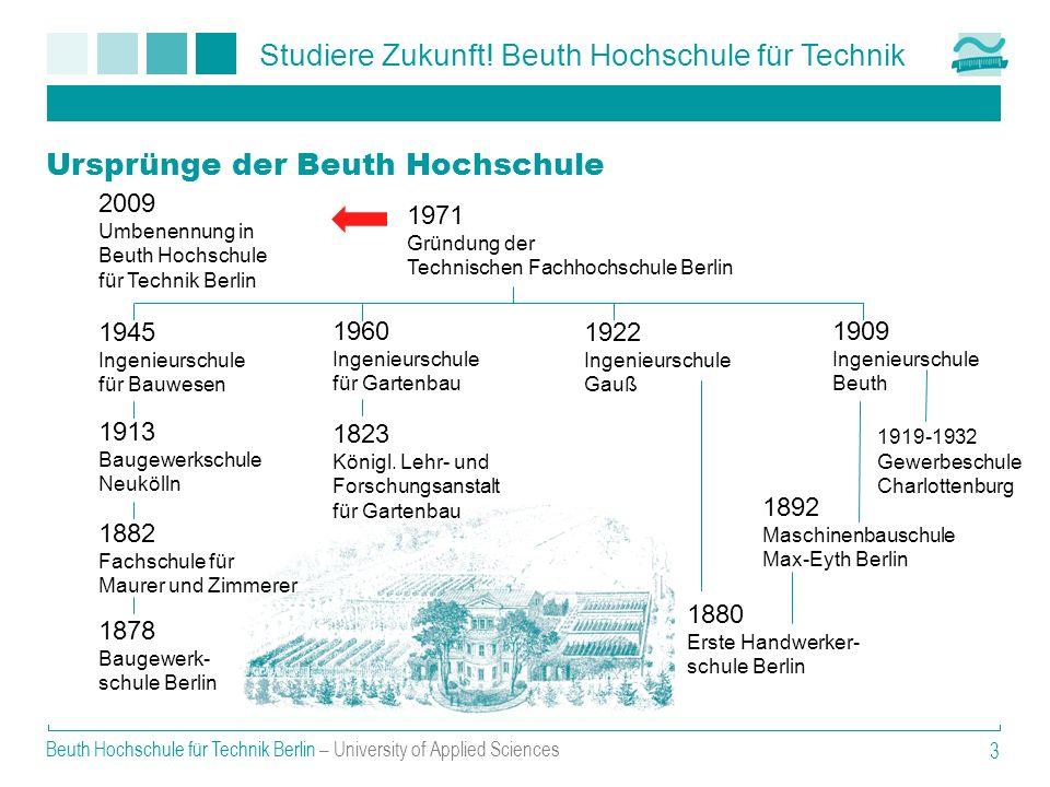 Studiere Zukunft! Beuth Hochschule für Technik Beuth Hochschule für Technik Berlin – University of Applied Sciences 3 Ursprünge der Beuth Hochschule 2