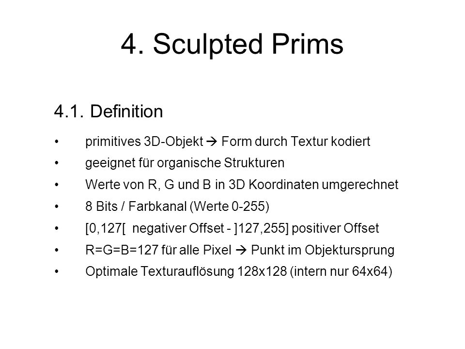 4. Sculpted Prims 4.1.