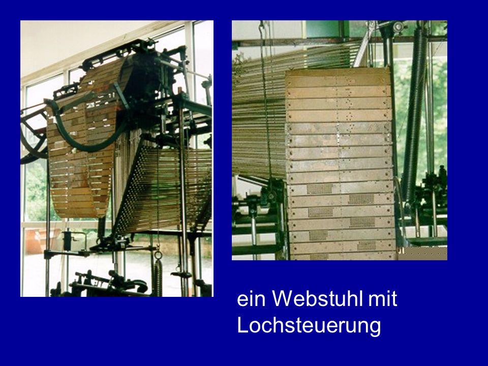 ein Webstuhl mit Lochsteuerung
