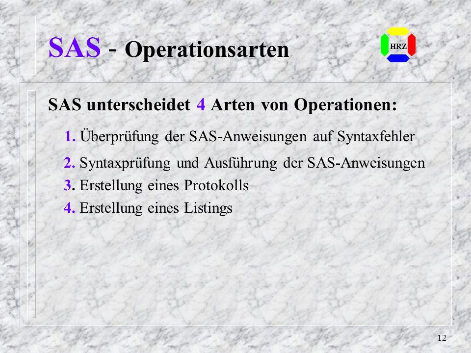 11 SAS - Batch HRZ