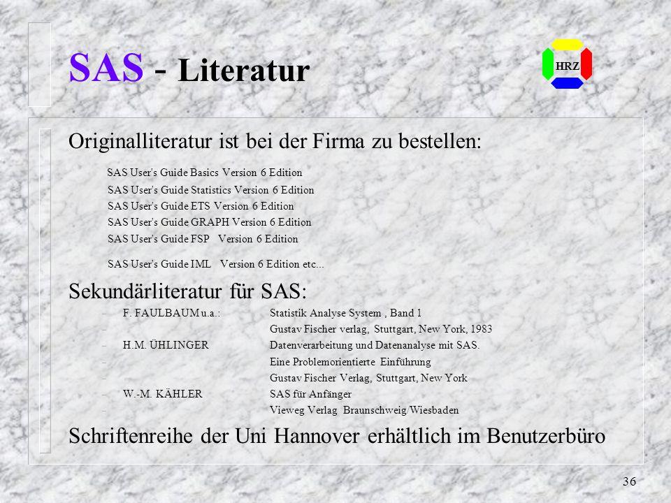 35 SAS - Aufruf HRZ
