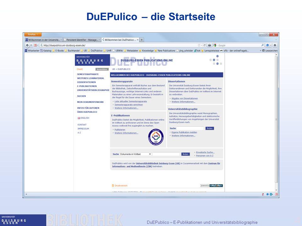 4 DuEPulico – die Startseite