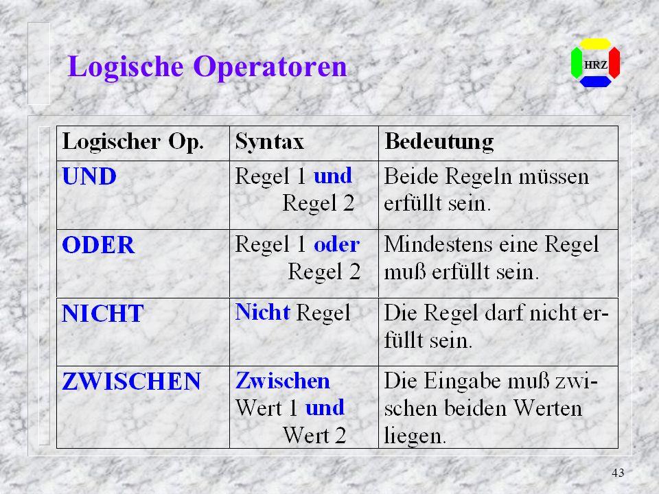 43 HRZ Logische Operatoren