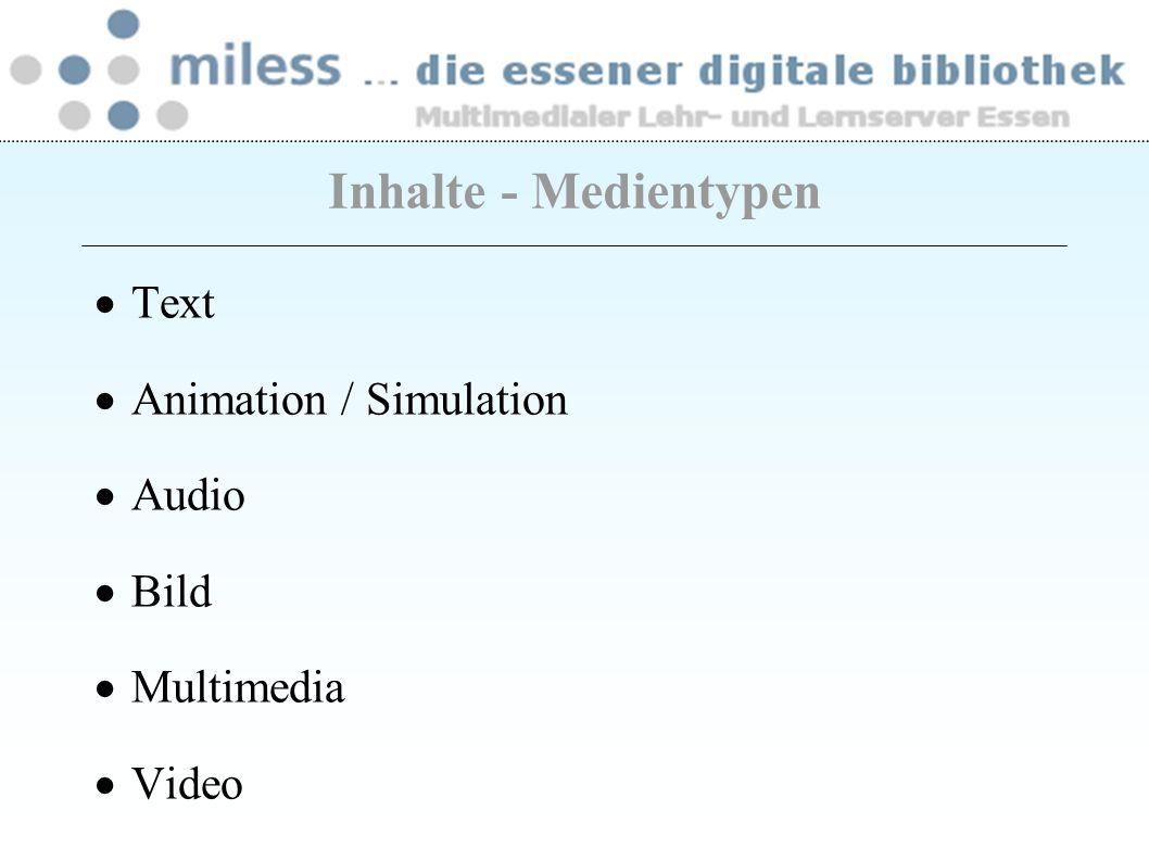 Liste der bereitgestellten Bücher mit Signaturen als Links zum OPAC Volltexte: Zeitschriftenaufsätze, Buchkapitel Links auf Internet- und MILESS-Dokumente eigene Dokumente Semesterapparate - Inhalte