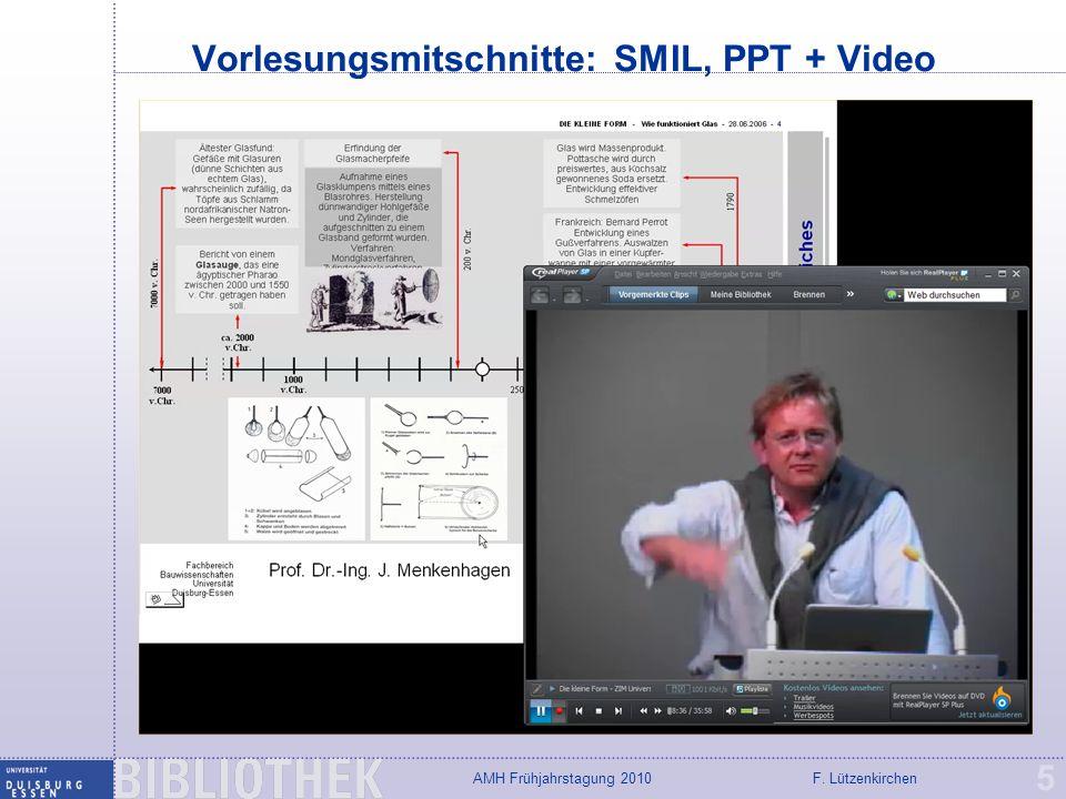 F. LützenkirchenAMH Frühjahrstagung 2010 Reden, Vorträgen, Präsentationen 6