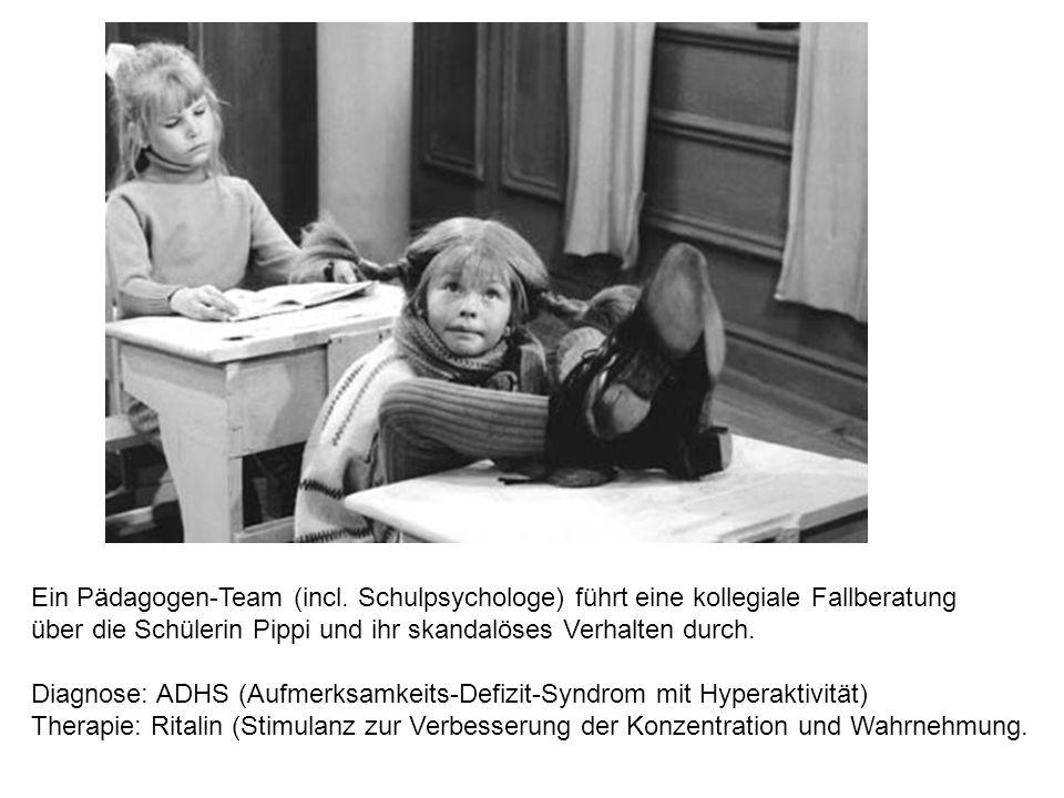 Ein Pädagogen-Team (incl. Schulpsychologe) führt eine kollegiale Fallberatung über die Schülerin Pippi und ihr skandalöses Verhalten durch. Diagnose: