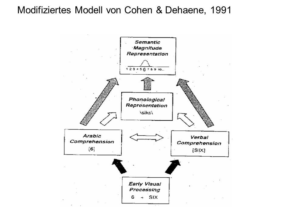 Modifiziertes Modell von Cohen & Dehaene, 1991