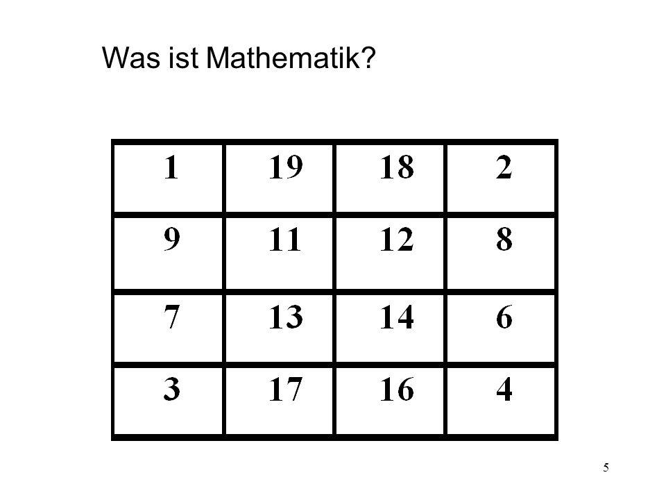 5 Was ist Mathematik?