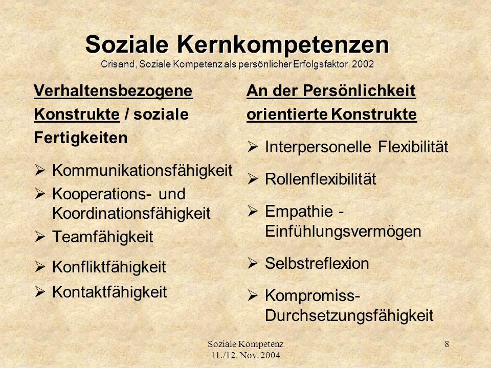 Soziale Kompetenz 11./12.Nov.